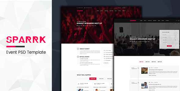 sparrk-WordPress-PSD-templates-for-event-planners